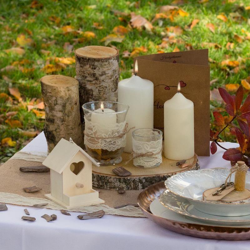 Deko Baumstamm 20cm Aus Holz Kaufen Meine Hochzeitsdeko De