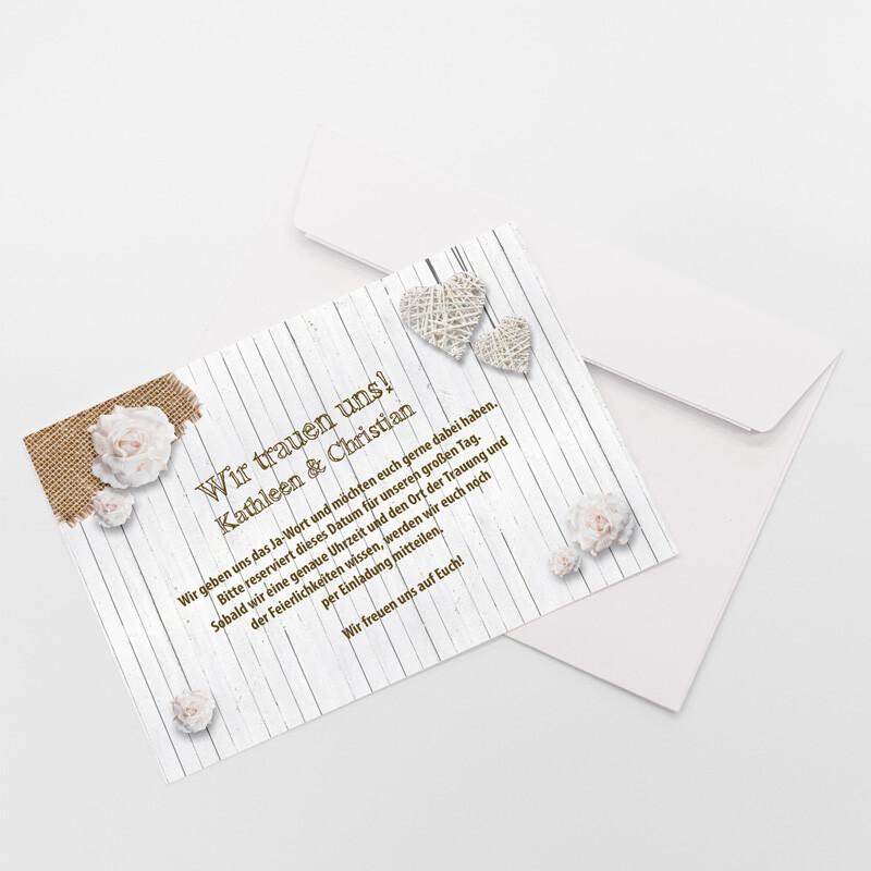 ... Save The Date Karte Hochzeit Shabby Chic