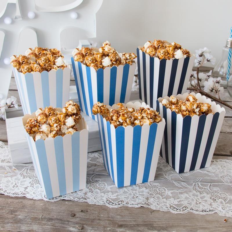 Candy Bar Popcornbecher Mix 6 Stuck Blau