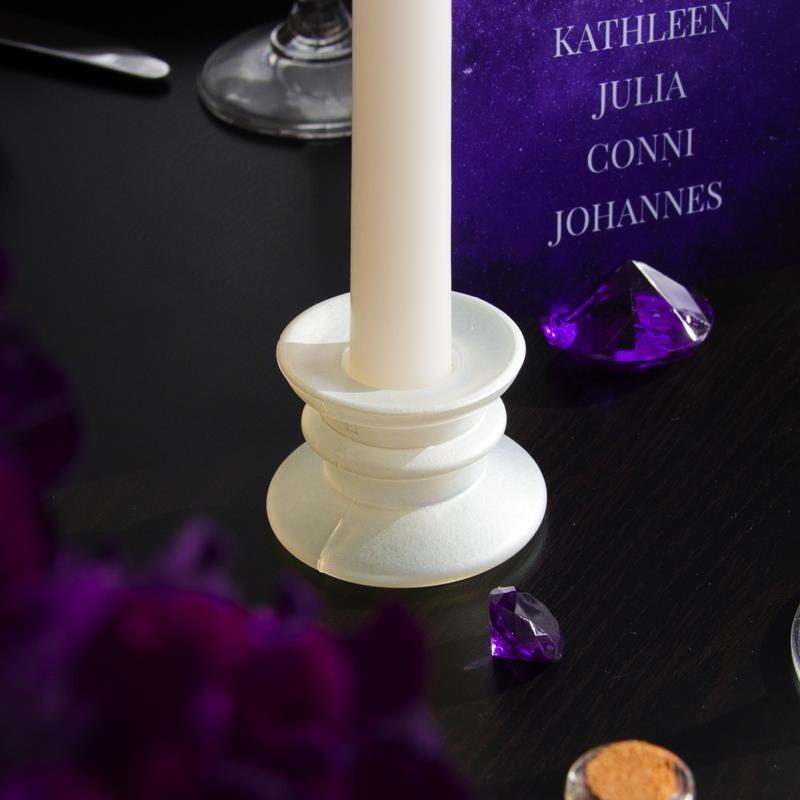 Kerzenhalter Weiss Fur Eure Tischdeko Zur Hochzeit