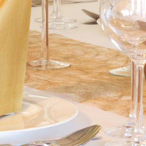 Tischläufer Sizoweb gold | 30 cm x 5 m