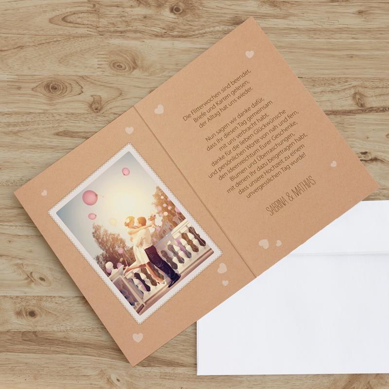 Dankeskarte Vintage Style Zur Hochzeit Hier Bestellen
