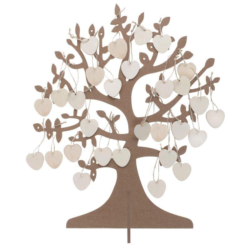 Gastebuch Alternative Wunschbaum Mit Holzherzen