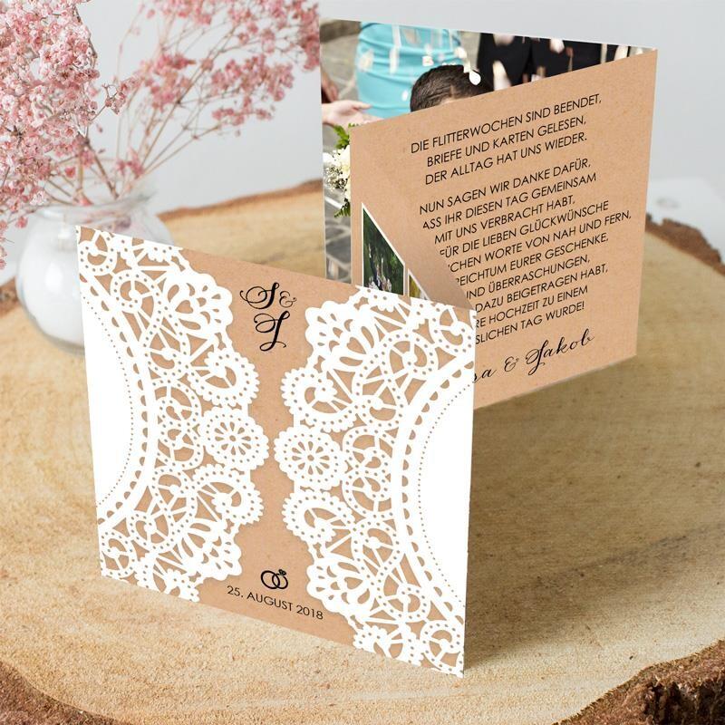 Dankeskarten Zur Hochzeit Bezaubernde Danksagungskarten