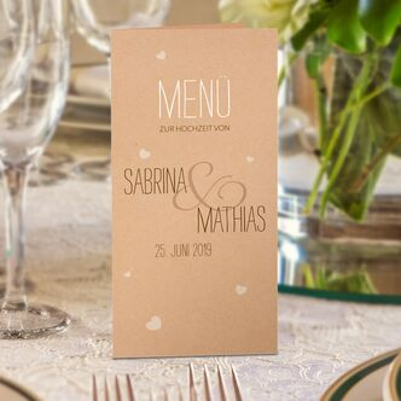 Menukarten Hochzeit Getrankekarten Online Bestellen
