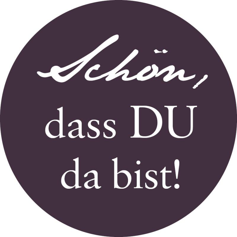 40 X Aufkleber Hochzeit Rund Schön Dass Du Da Bist