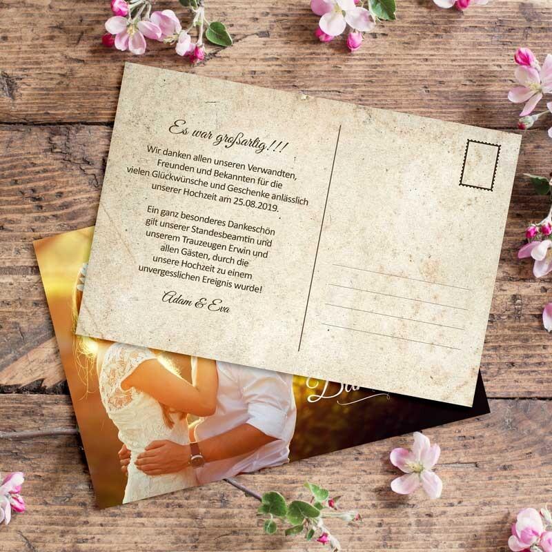 Dankeskarte Hochzeit Vintage Postcard Hier Kaufen