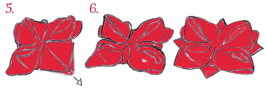 Servietten falten Schritte 5 und 6