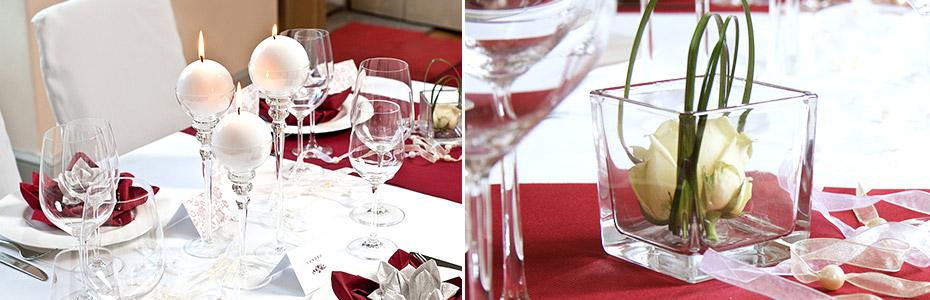 Rot wie die Liebe -Tischdeko für die Rubinhochzeit