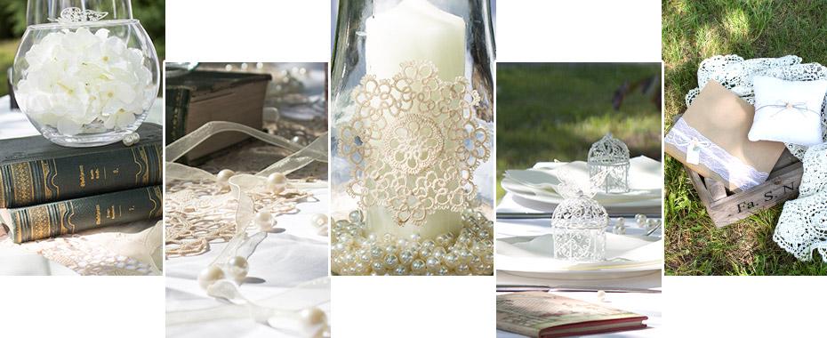 Tischdeko für die Vintage-Hochzeit
