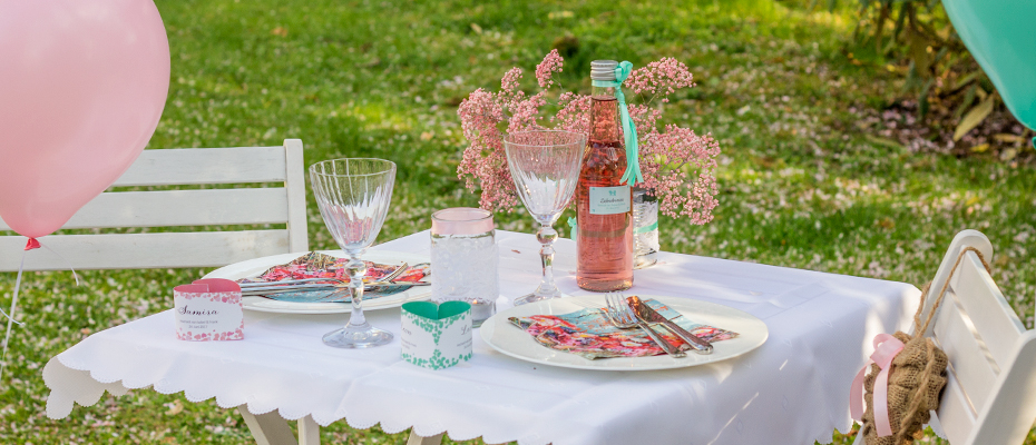 Hochzeitsdeko In Mint Rose Das Blush Wedding Shooting