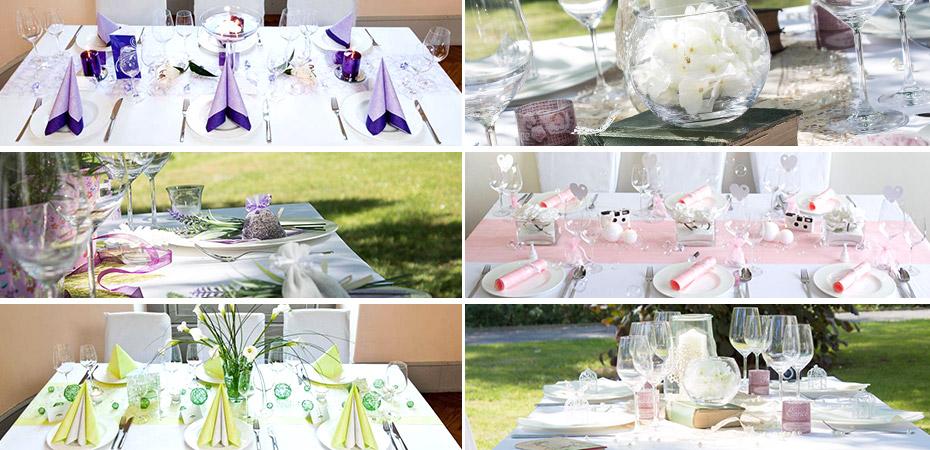 Mustertische für Eure Hochzeitsdeko