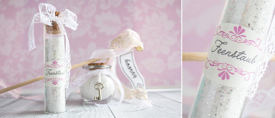 DIY Gastgeschenke für die Hochzeit Feenstaub