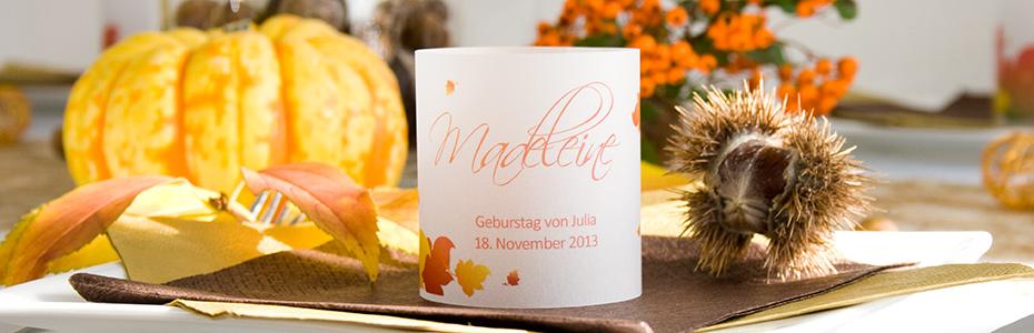 Gastgeschenke für den Herbst