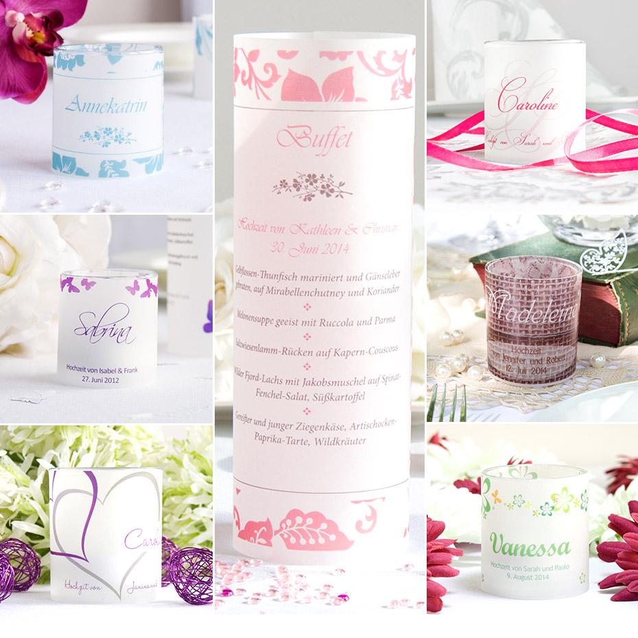 Windlicht-Tischkarten - kleine Alleskönner für Eure Hochzeitsgäste