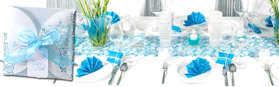Tischdeko Hochzeit Türkis
