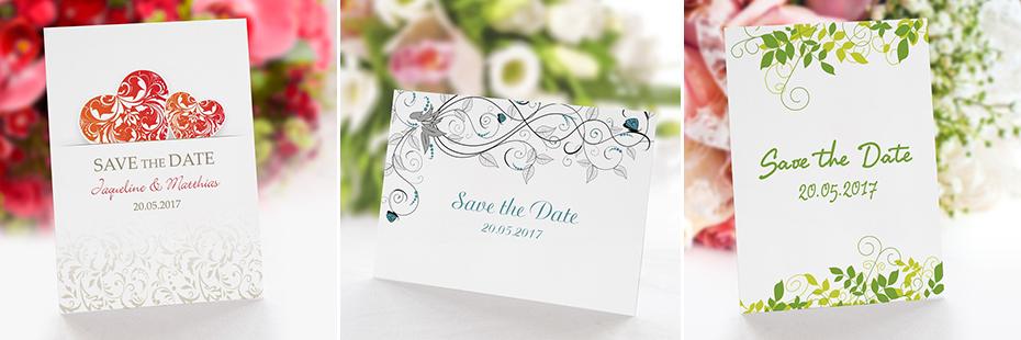 Save-the-Date-Karten für die Hochzeit
