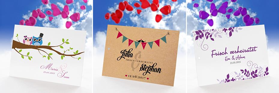 Ballonkarten für die Hochzeit