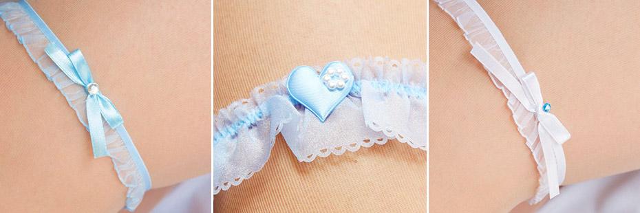 Strumpfbänder für die Hochzeit
