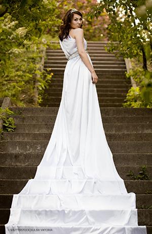 Hochzeitsrekorde - lange Schleppe
