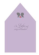 Flieder Inlay für Briefumschläge zur Hochzeit