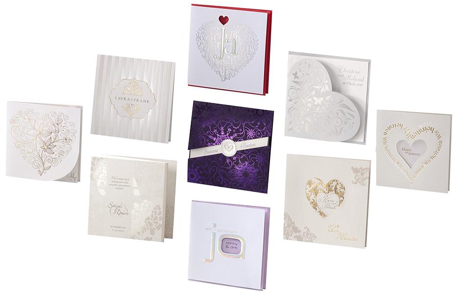 Angesagte Einladungskarten für die Hochzeit