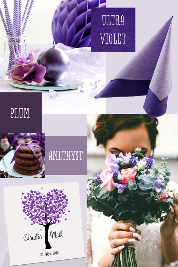 Hochzeitsfarbe Ultra Violet
