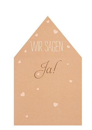 Vintage Inlay für Briefumschläge zur Hochzeit