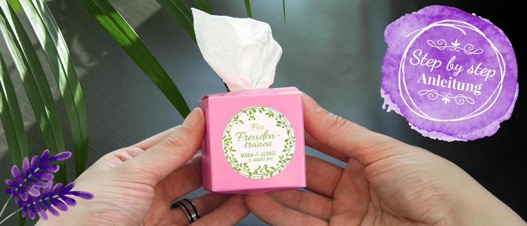 Freudentränen Taschentuchbox