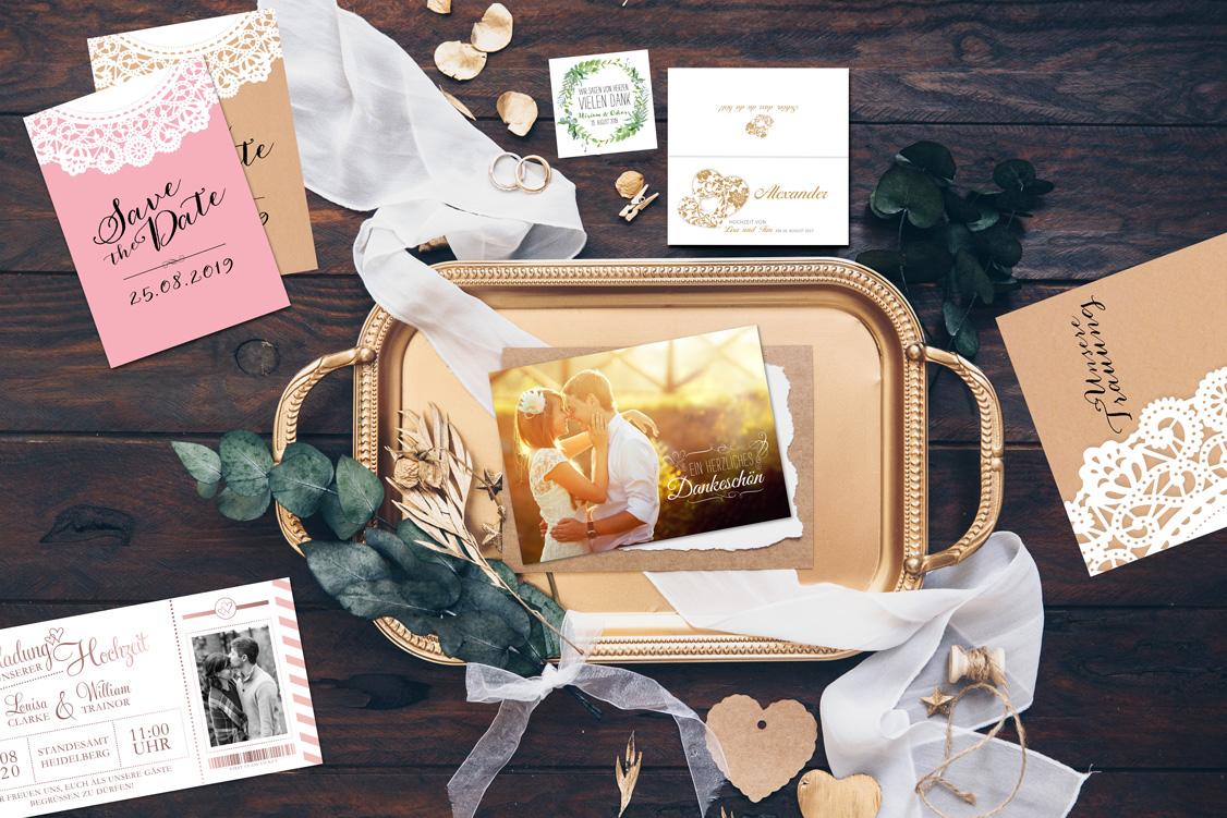Unser Musterservice für Hochzeitskarten